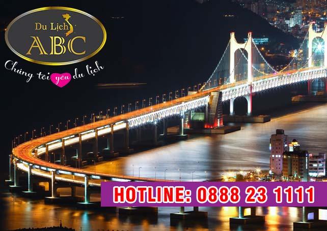 Du Lịch Hàn Quốc - Cây cầu treo dài nhất Hàn Quốc