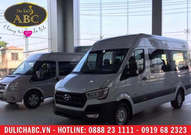 Cho thuê xe Hyundai H350 – xe hyundai 16 chỗ