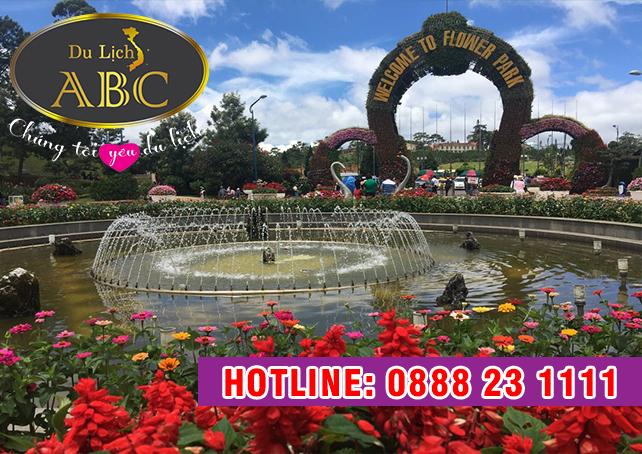 Du lịch Đà Lạt Vườn hoa thành phố Đà Lạt