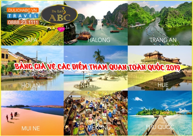 Bảng Giá Vé Các Điểm Tham Quan Du lịch Cả Nước 2019