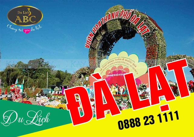 Tour Du lịch Đà lạt Khách Lẻ Festival Hoa 2017