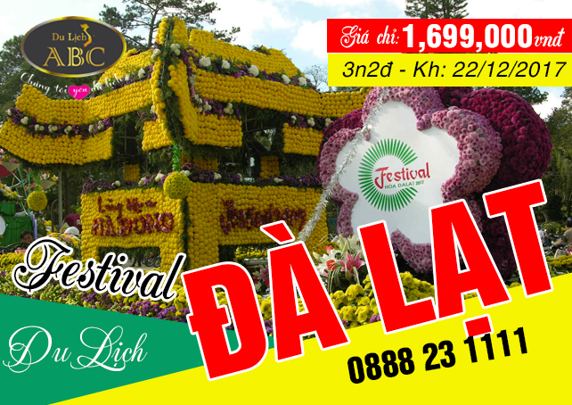 Tour Đà lạt Festival Hoa 2019 (3N2Đ) - giá chỉ: 1.699.000đ