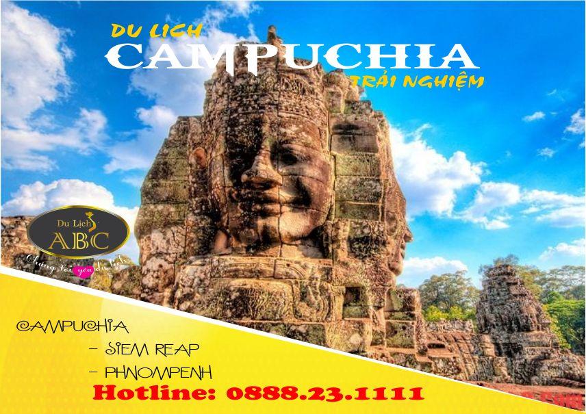 Tour Du lịch Campuchia: Siem Riep - Phnompenh