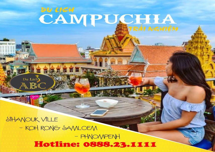 Tour Du lịch Campuchia: SIHANOUK VILLE - KOH RONG SAMLOEM - PHNOMPENH