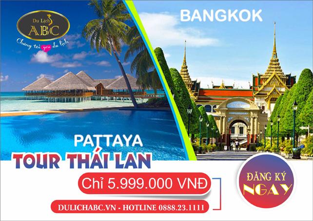 Du lịch Thái Lan 5 Ngày 4 Đêm Giá Rẻ - 5.999.000vnđ