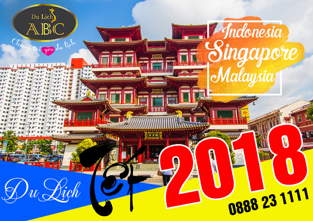 Tour Du lịch Singapore - Malaysia - Indonesia Tết 2018