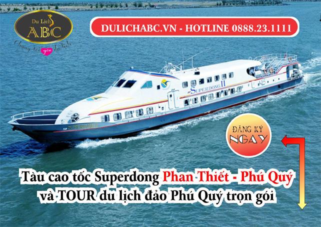 Lịch Tàu Cao Tốc Chạy Đảo Phú Quý - Tàu SupperDong